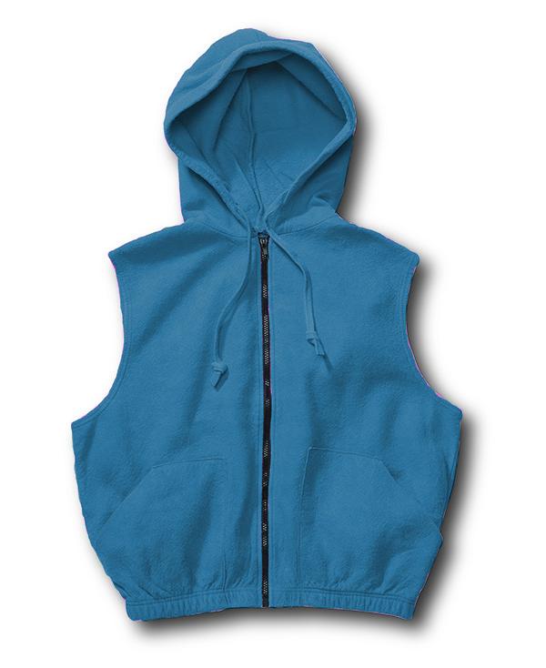 Chammyz Hoodie Vest Denim Blue